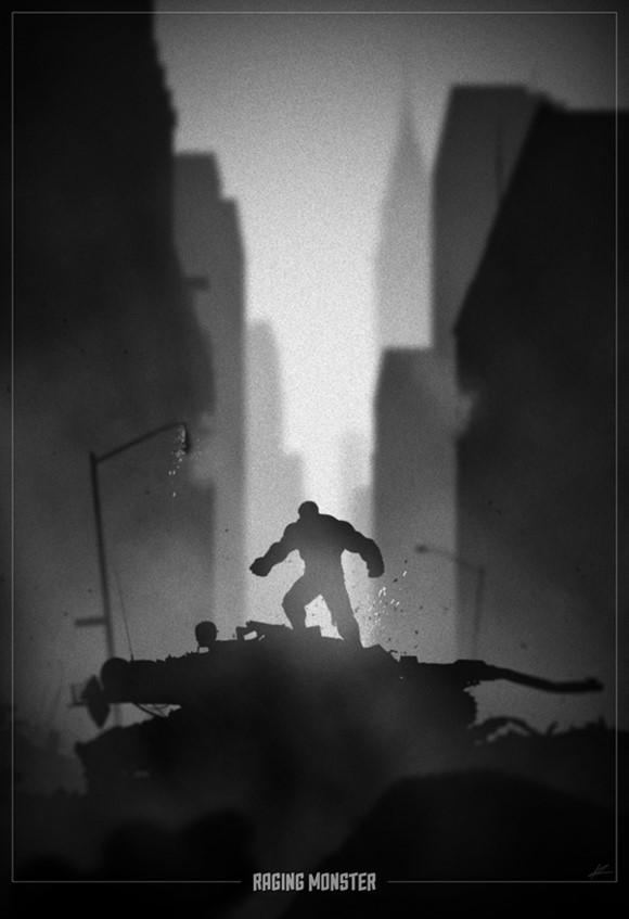 美国10位最伟大超级英雄形象黑暗系海报