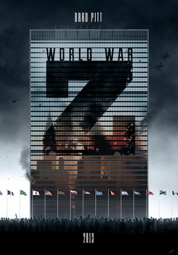 设计师Marko Manev的《僵尸世界大战》(World War Z)海报