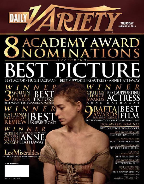 《悲惨世界》、《勇敢传说》获美国电影音响协会奖