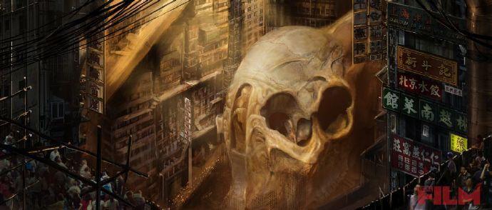 《太平洋沿岸》(Pacific Rim)概念艺术展现巨大怪兽头骨