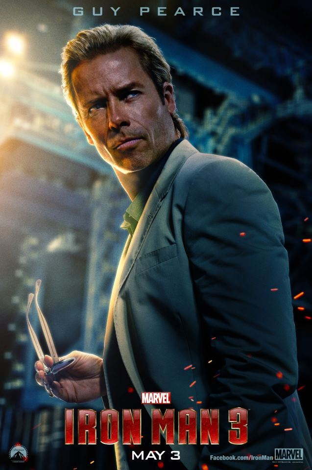 《钢铁侠3》(Iron Man 3)新曝角色海报 3月初公布内地映期