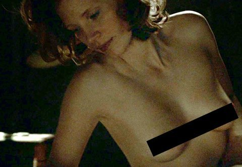 "Jessica Chastain, we saw your boobs in ""Lawless"""