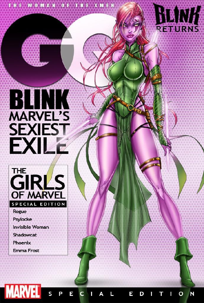 范冰冰扮演角色的漫画形象变种人Blink(闪烁)