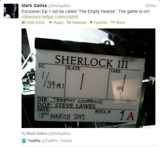 """《神探夏洛克》(Sherlock)第3季开拍 首播集源自""""空屋"""""""