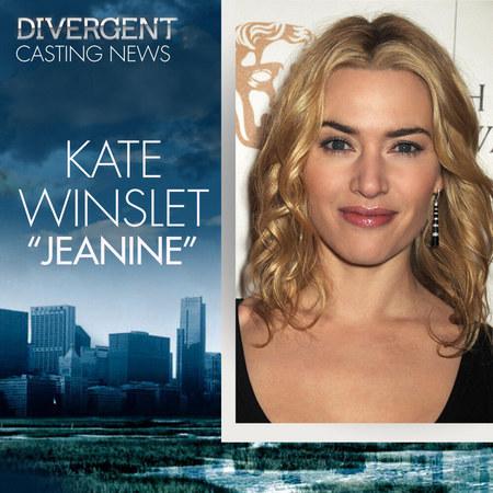 """凯特·温斯莱特(Kate Winslet)加盟《分歧者》扮演""""珍妮·马修斯"""""""