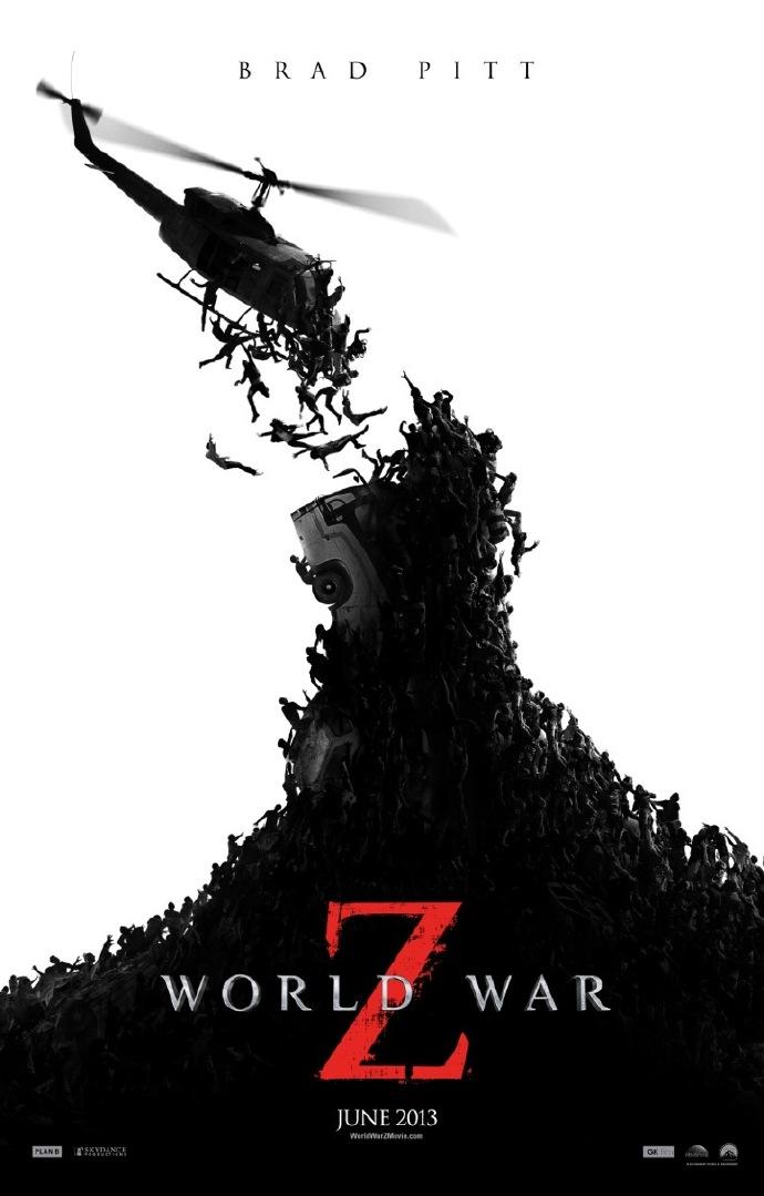 《末日之战》(World War Z)新海报预告曝光 布拉德·皮特追逐全球僵尸潮