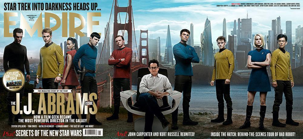 """《星际迷航2:驶入黑暗》(Star Trek Into Darkness)""""企业号""""船员全家福"""