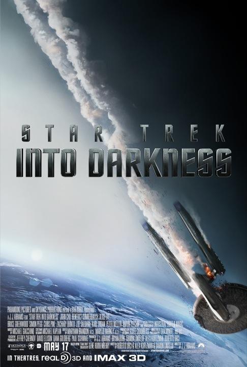 《星际迷航:暗黑无界》(Star Trek Into Darkness)新海报三联发 企业号坠落卷福亮相
