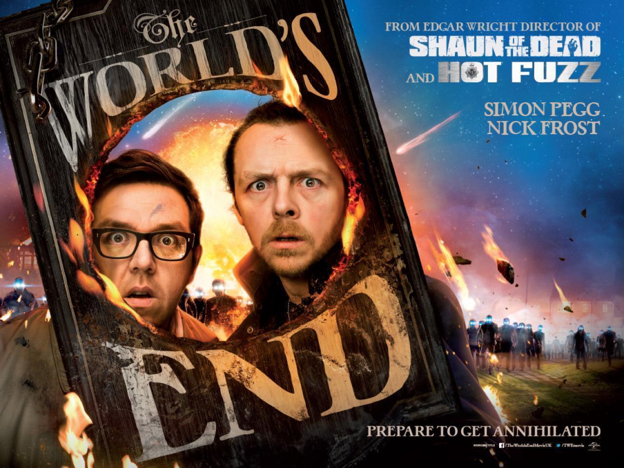"""""""血与冰激淋三部曲""""最后一部《世界尽头》(The World's End)预告片"""