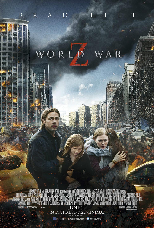《末日之战》(World War Z)曝光新海报 僵尸来袭皮特变慈父