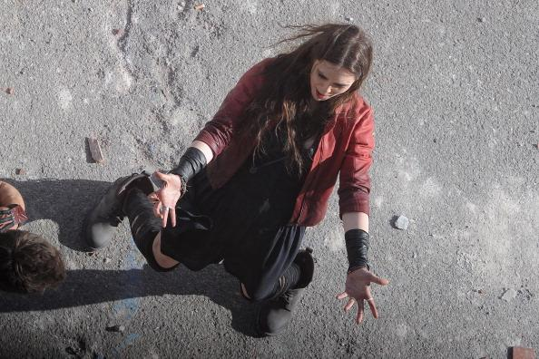 《复仇者联盟2:奥创年代》意大利片场曝光红女巫和快银