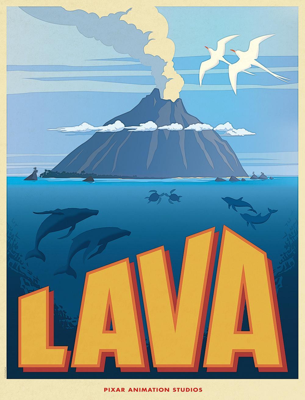 皮克斯动画短片《岩浆》(Lava)海报发布