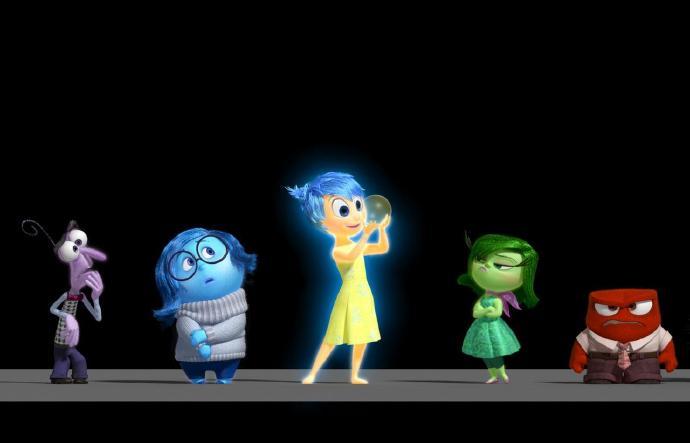 左起:恐惧、悲伤、喜悦、厌恶、愤怒