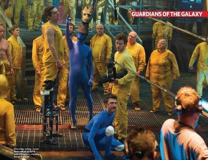 """《银河护卫队》(Guardians of the Galaxy)新曝片场照 """"星云""""卖萌""""星爵""""耍酷"""