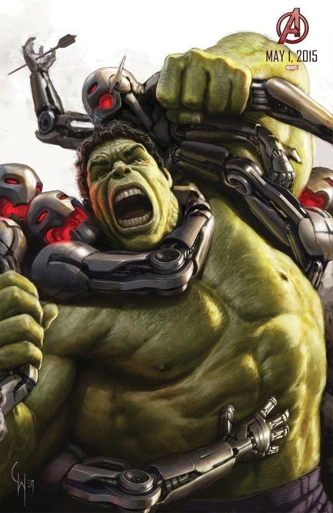 《复仇者联盟:奥创时代》群战海报全揭晓 绿巨人、雷神鏖战奥创军团