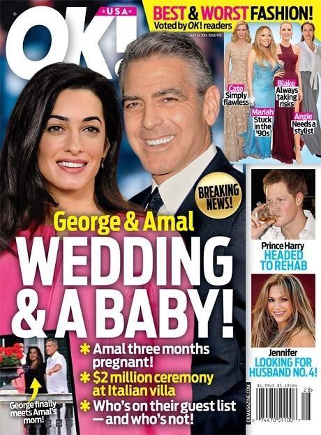 乔治·克鲁尼(George Clooney)与全英最美律师阿迈勒·阿拉姆丁(Amal Alamuddin)伦敦结婚