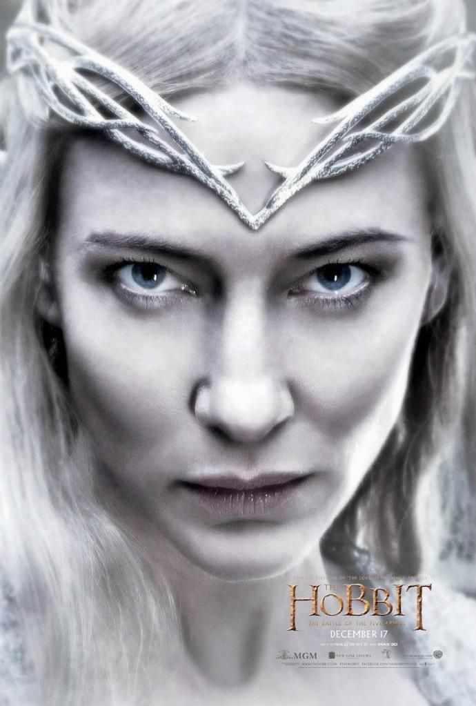 《霍比特人3》曝新角色海报 布兰切特版精灵女王尽显肃杀之气