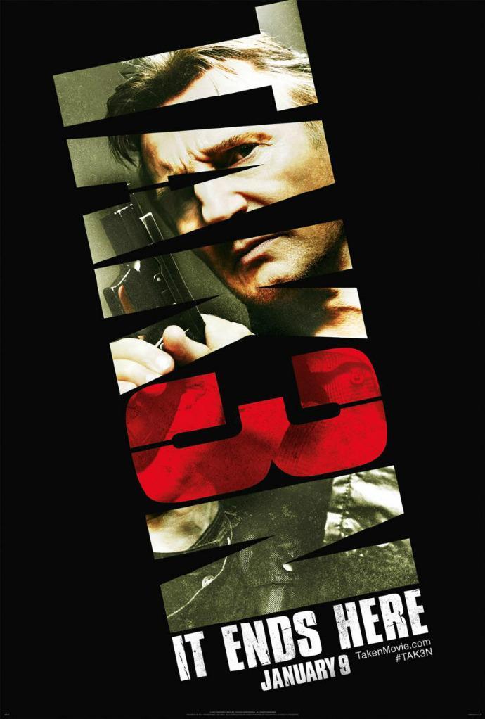 《飓风营救3》(Taken 3)首曝预告 62岁连姆·尼森为妻复仇或成系列终章