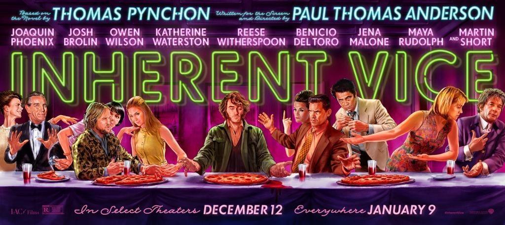 《性本恶》(Inherent Vice)横幅海报:最后的晚餐