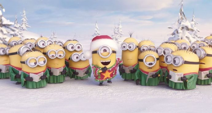 小黄人(Minions)节日问候献唱《铃儿响叮当》和《平安夜》