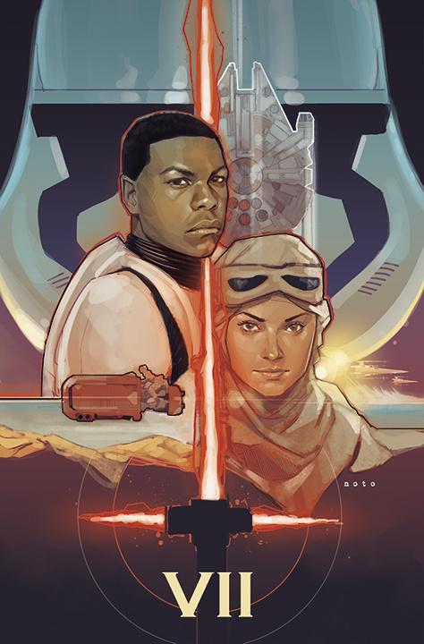 《星球大战7:原力觉醒》(Star Wars: The Force Awakens)Fan制海报