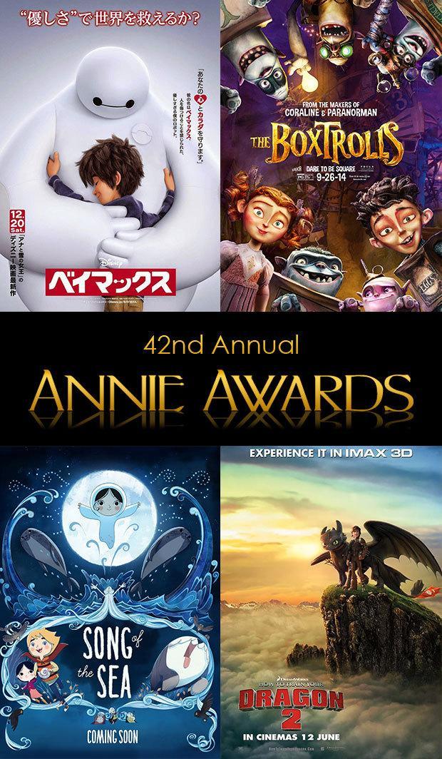 """第42届""""动画安尼奖""""(42nd Annual Annie Awards)提名公布  《盒子怪》领跑"""