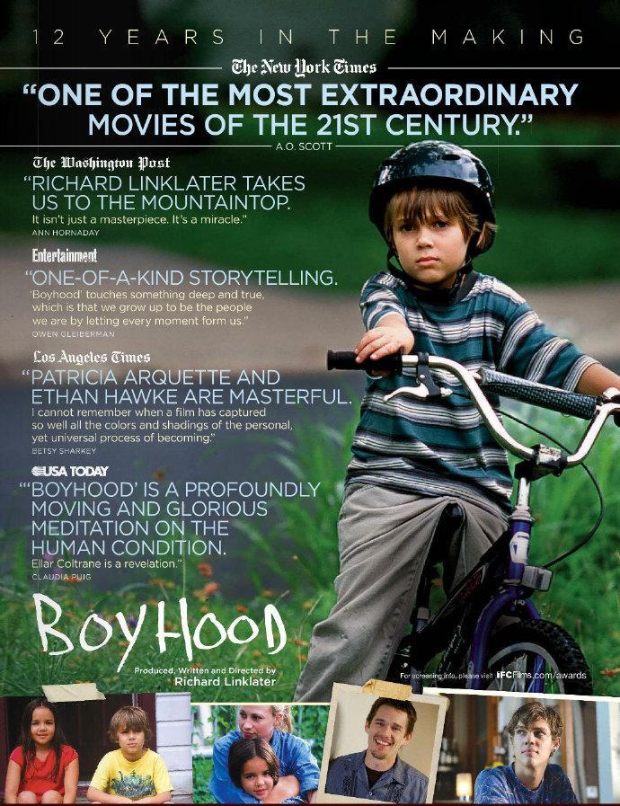 《少年时代》获洛杉矶及波士顿影评人协会最佳影片