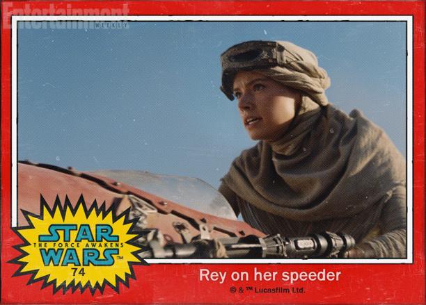 """74:黛西·雷德利(Daisy Ridley)饰演的角色名字叫""""蕾""""(Rey),此次公布的角色都没有姓氏,也许是害怕大家根据姓氏猜出他们的真实身份吧"""