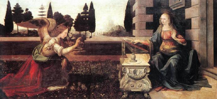 达·芬奇《天使报喜》1475