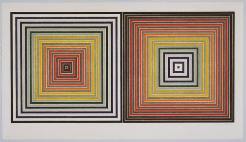 Frank Stella, 《Double Gray Scramble》 (1973)