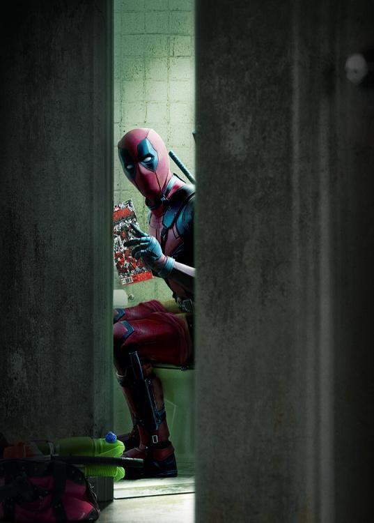 """雷诺兹再曝""""死侍""""(Deadpool)萌贱带妆照 围观超级英雄生活日常"""