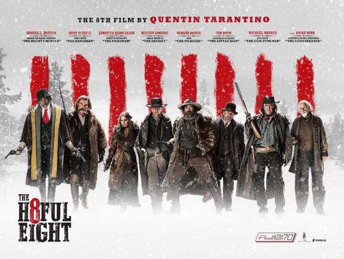 """《八恶人》(The Hateful Eight)曝预告版海报 塞缪尔·杰克逊等""""八恶人""""合体"""