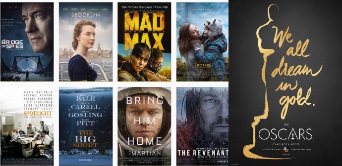 2016第88届奥斯卡完整提名名单:《归来者》、《疯狂的麦克斯4》领跑