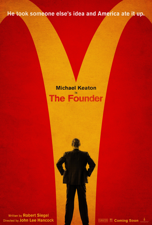 麦当劳传记片《创始人》(The Founder)曝海报 经典Logo变分岔路