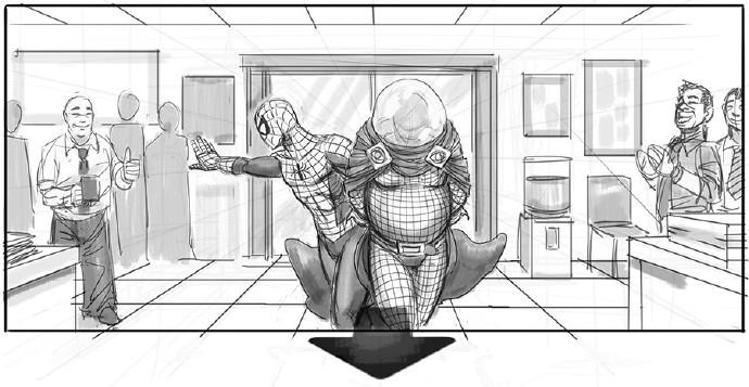蜘蛛侠押送神秘客来到警局1