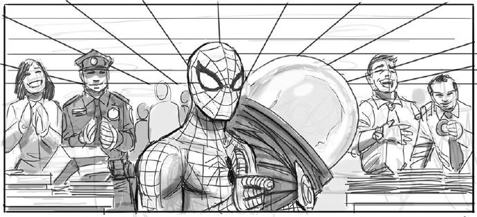 蜘蛛侠押送神秘客来到警局2