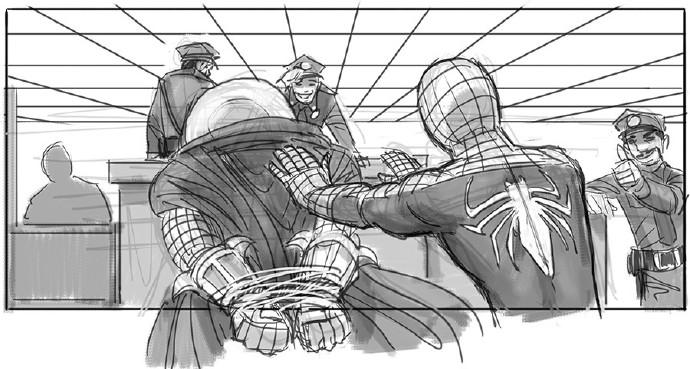 蜘蛛侠押送神秘客来到警局3