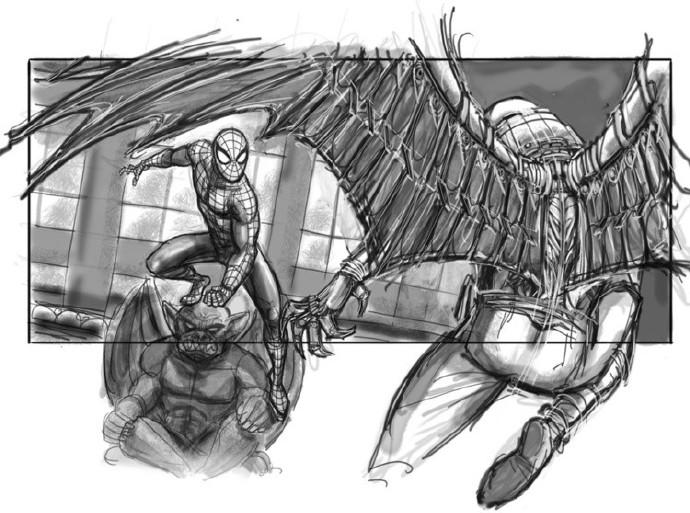 蜘蛛侠和秃鹰进行对峙