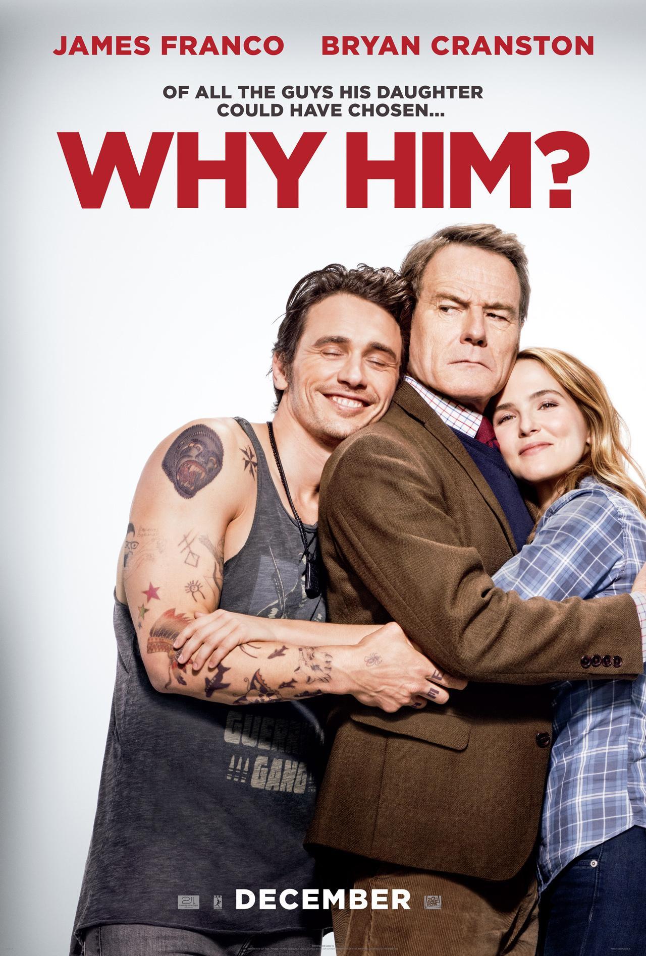 《为什么是他》(Why Him?)曝限制级预告 老白&付兰兰上演准岳父VS女婿大战