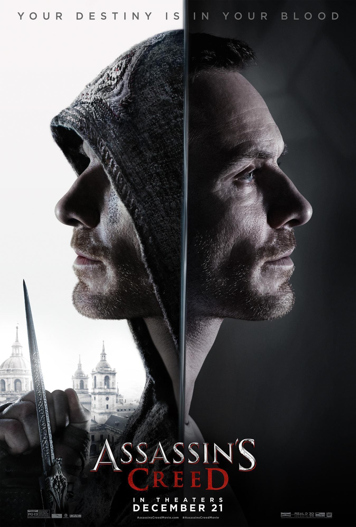"""《刺客信条》(Assassin's Creed)全新预告海报出炉 """"法鲨""""刺客基因觉醒"""