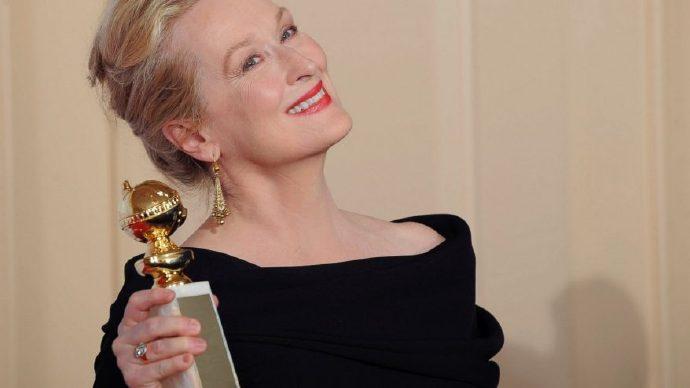 """梅丽尔·斯特里普(Meryl Streep)获颁第74届金球奖""""终身成就奖"""""""