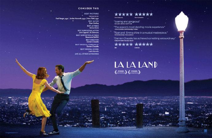 《爱乐之城》(La La Land)13项提名领跑第21届卫星奖