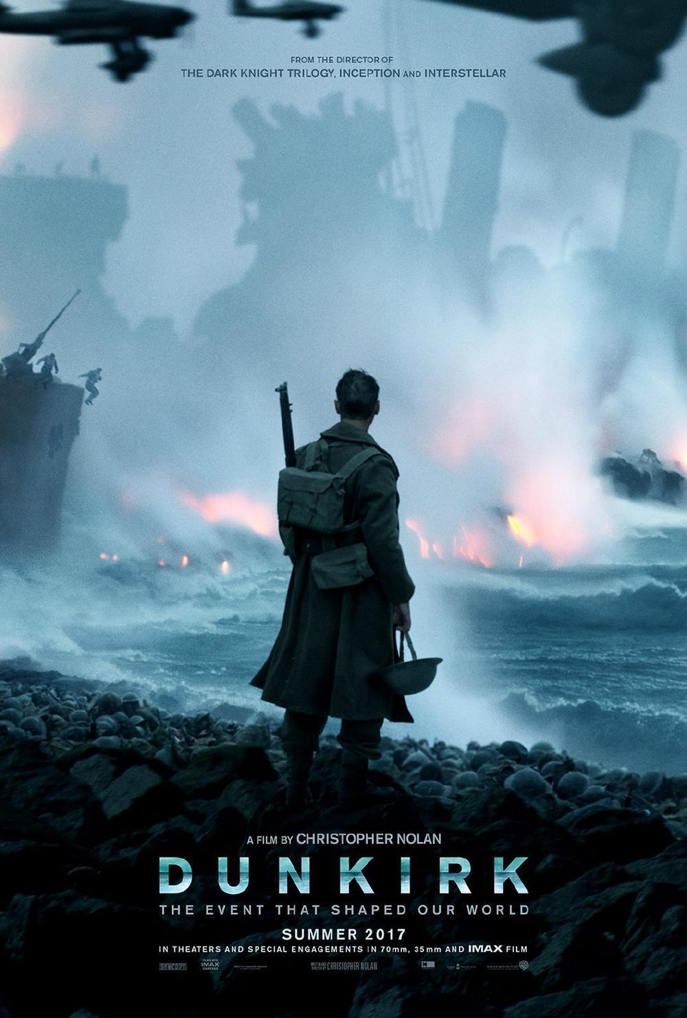 诺兰二战史诗《敦刻尔克》(Dunkirk)首发海报