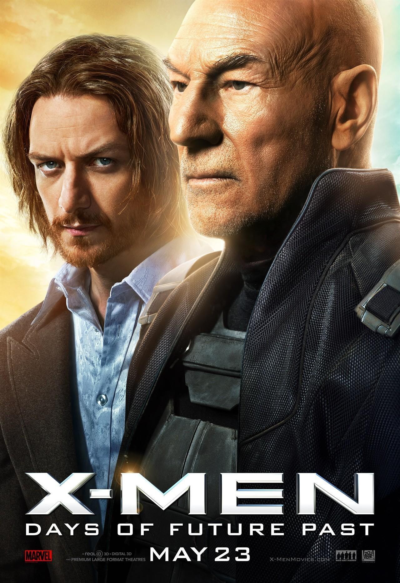 《X战警:逆转未来》再发新海报 两代X教授、野兽、暴风女亮相