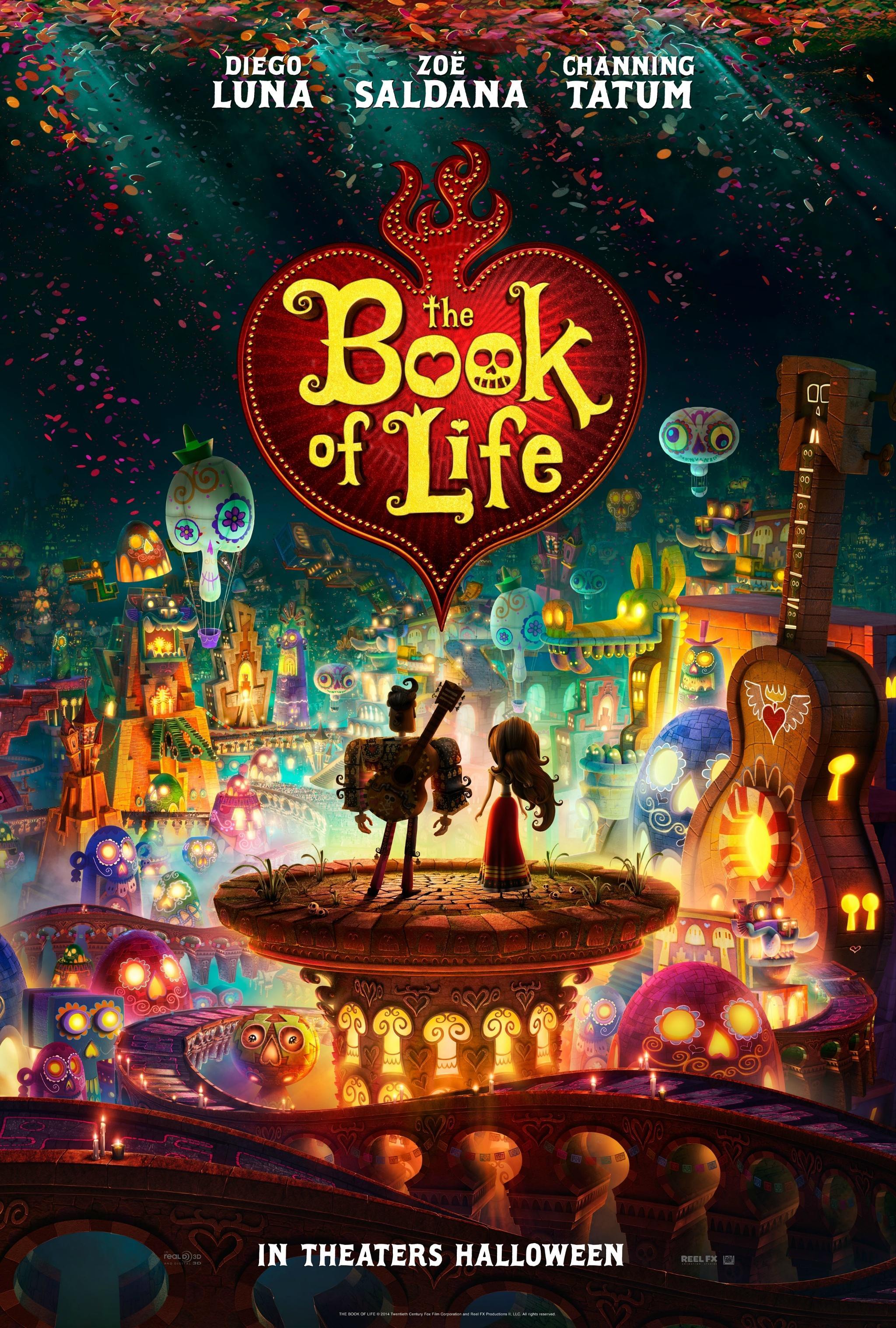 """吉尔莫·德尔·托罗监制3D动画《生命之书》(Book of Life)首曝预告 取材墨西哥""""鬼节""""传说"""