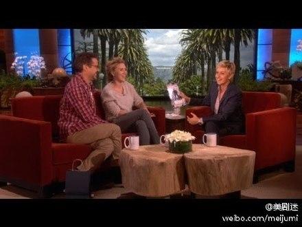 小罗伯特·唐尼、斯嘉丽·约翰逊 上艾伦秀(Ellen Show)[无字幕]