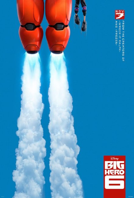 迪士尼第54部动画长片《超能陆战队》(Big Hero 6)首款预告片曝光