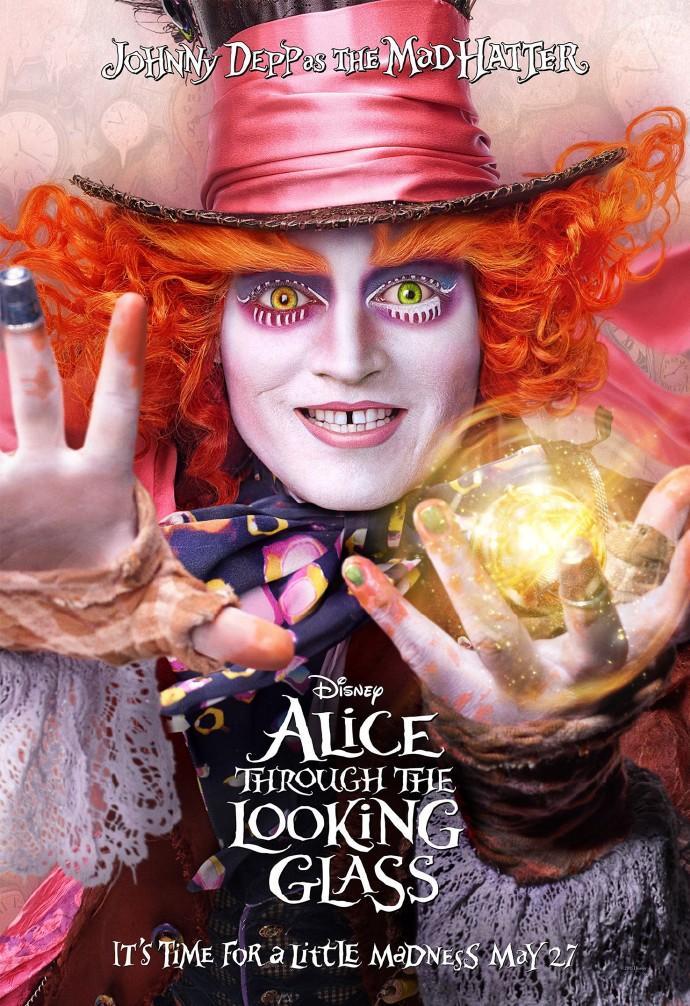 《爱丽丝梦游仙境2:镜中奇遇记》全新预告片、海报全球首发
