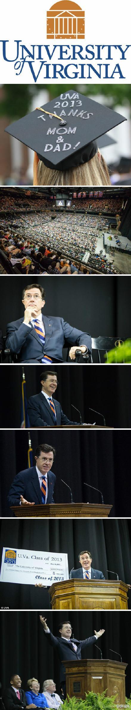 斯蒂芬·科尔伯特/扣扣熊(Stephen Colbert)弗吉尼亚大学2013届毕业典礼演讲