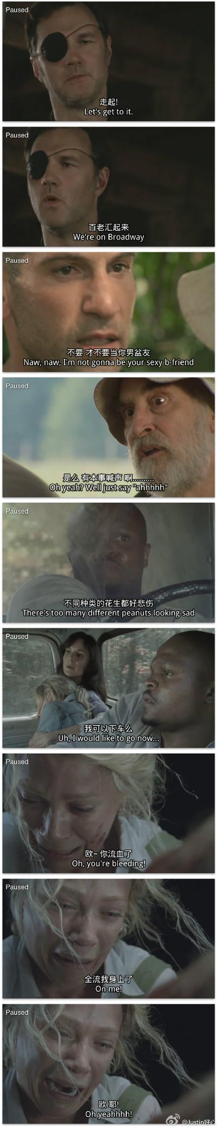 唇语恶搞笑短片《行尸走肉》爆笑神同步配音 总督唱歌给你听 超清双语字幕.